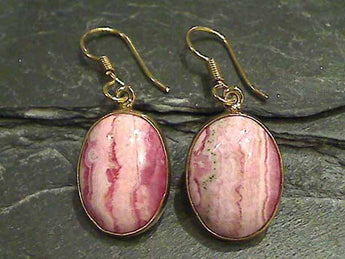 Rhodochrosite, Alchemia Earrings