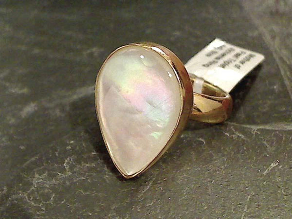 Mother of Pearl Triplet, Alchemia Ring, Adj. Size