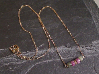 "20"" Tourmaline, Gold Filled Necklace"