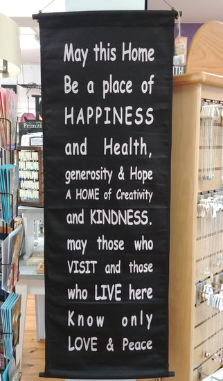 Home Of Happiness Scroll Banner 47'' x 15''