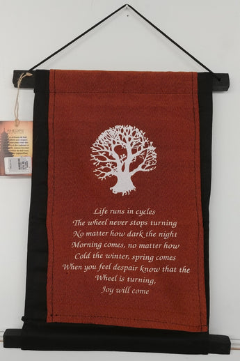 Tree Of Life ''Cycles'' Scroll Banner 15'' x 10''