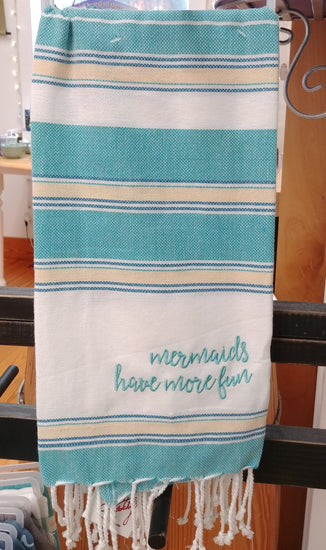 ''Mermaids Have More Fun'' Dish / Hand Towel