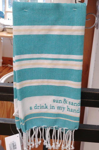''Sun & Sand a Drink in My Hand'' Dish / Hand Towel