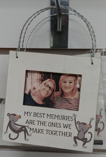 ''My Best Memories'' Hanging Picture Frame