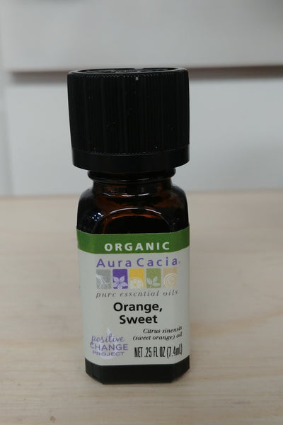 Organic Orange, Sweet, .25oz Pure Essential Oil