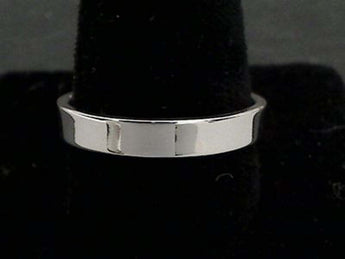 Size 11.5 Sterling Silver 4mm Ring Band