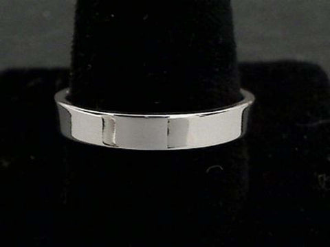 Size 14 Sterling Silver 4mm Ring Band