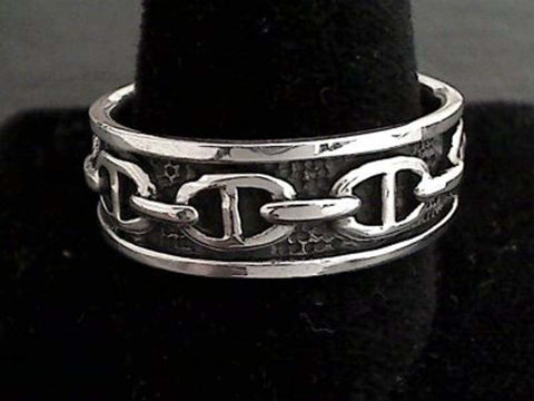 Size 13 Sterling Silver 8mm Ring