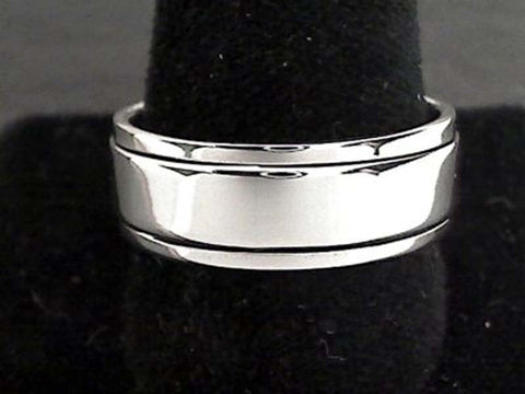Size 12 Sterling Silver 8mm Spinner Ring