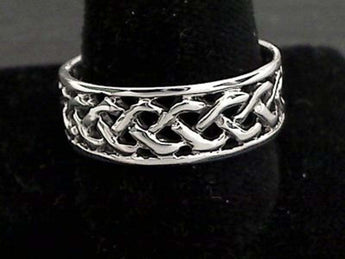 Size 13.5 Sterling Silver 8mm Celtic Ring