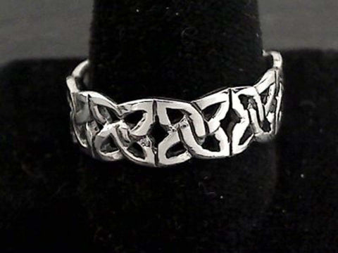 Size 13 Sterling Silver 7mm Celtic Ring