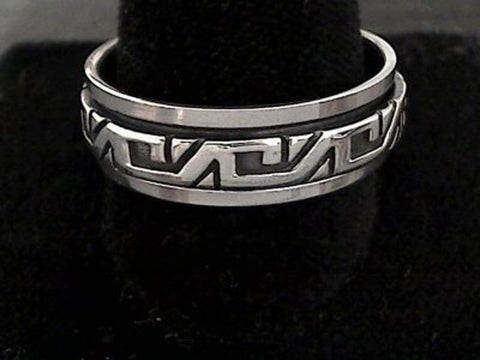 Size 14 Sterling Silver 7.5mm Spinner Ring