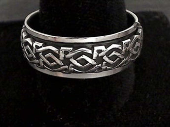 Size 14.5 Sterling Silver 9mm Celtic Spinner Ring