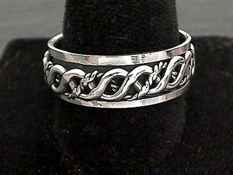 Size 13.5 Sterling Silver 8mm Celtic Spinner Ring