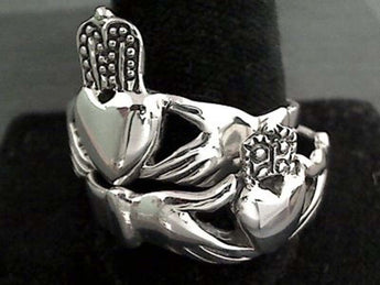 Size 15 Sterling Silver Claddagh Ring