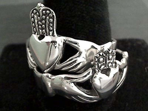 Size 14 Sterling Silver Claddagh Ring