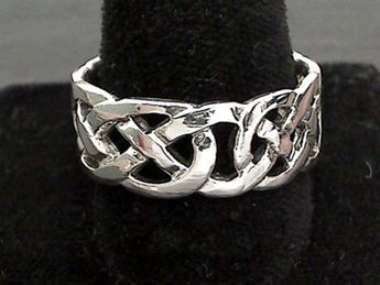 Size 13 Sterling Silver 9mm Celtic Ring
