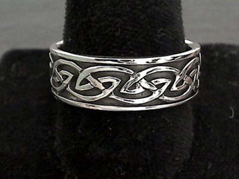 Size 14 Sterling Silver 8mm Celtic Ring