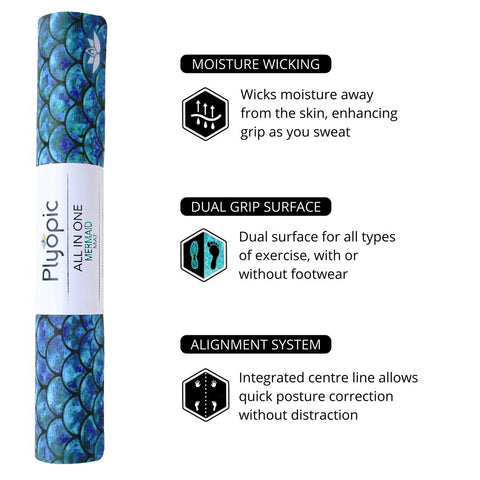 Plyopic All in One Mermaid Yoga Mat Features