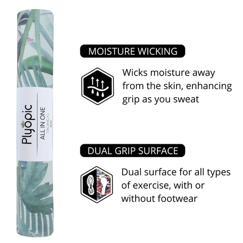 Plyopic All in One Tropical Yoga Mat Features