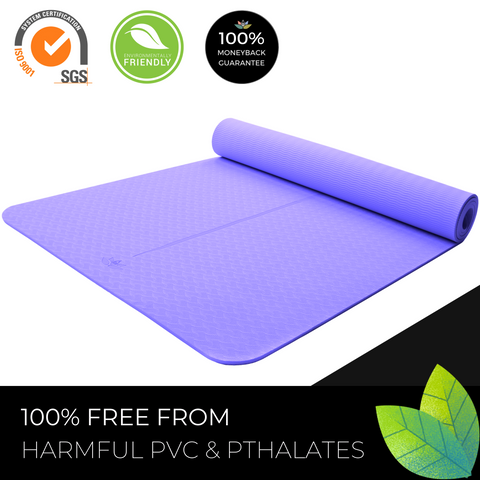 Plyopic Kids Yoga Mat - Purple - PVC Free Environmentally Friendly
