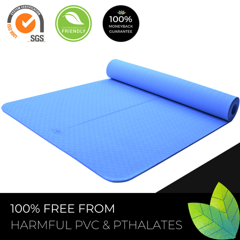 Plyopic Kids Yoga Mat - Blue - Eco PVC Free