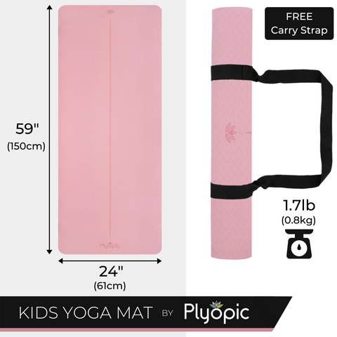 Plyopic Kids Yoga Mat - Size and Weight