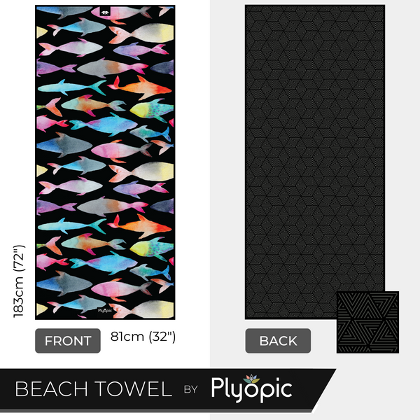 Plyopic Microfiber Beach Towel - Reef