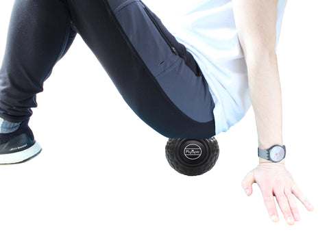 Glute Muscles Black Massage Ball