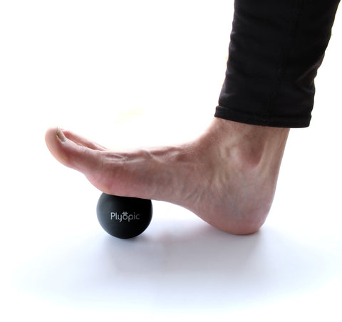 Rolling Flexion Foot Black Massage Ball