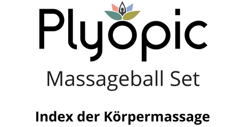 Plyopic Massageball Set Index der Korpermassage