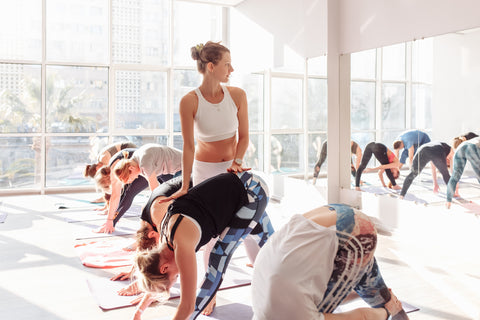 Yoga in a Yoga Studio