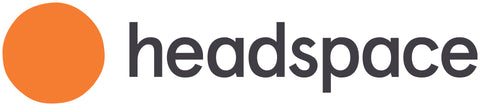 Headspace logo with orange dot and the word headspace