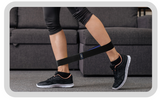 Kick back exercises with a resistance band