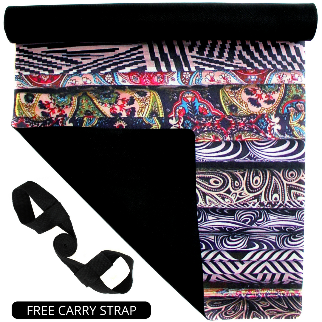 Plyopic-All In One Yoga Mat Tribal-Yoga Mat With Free Carry Strap
