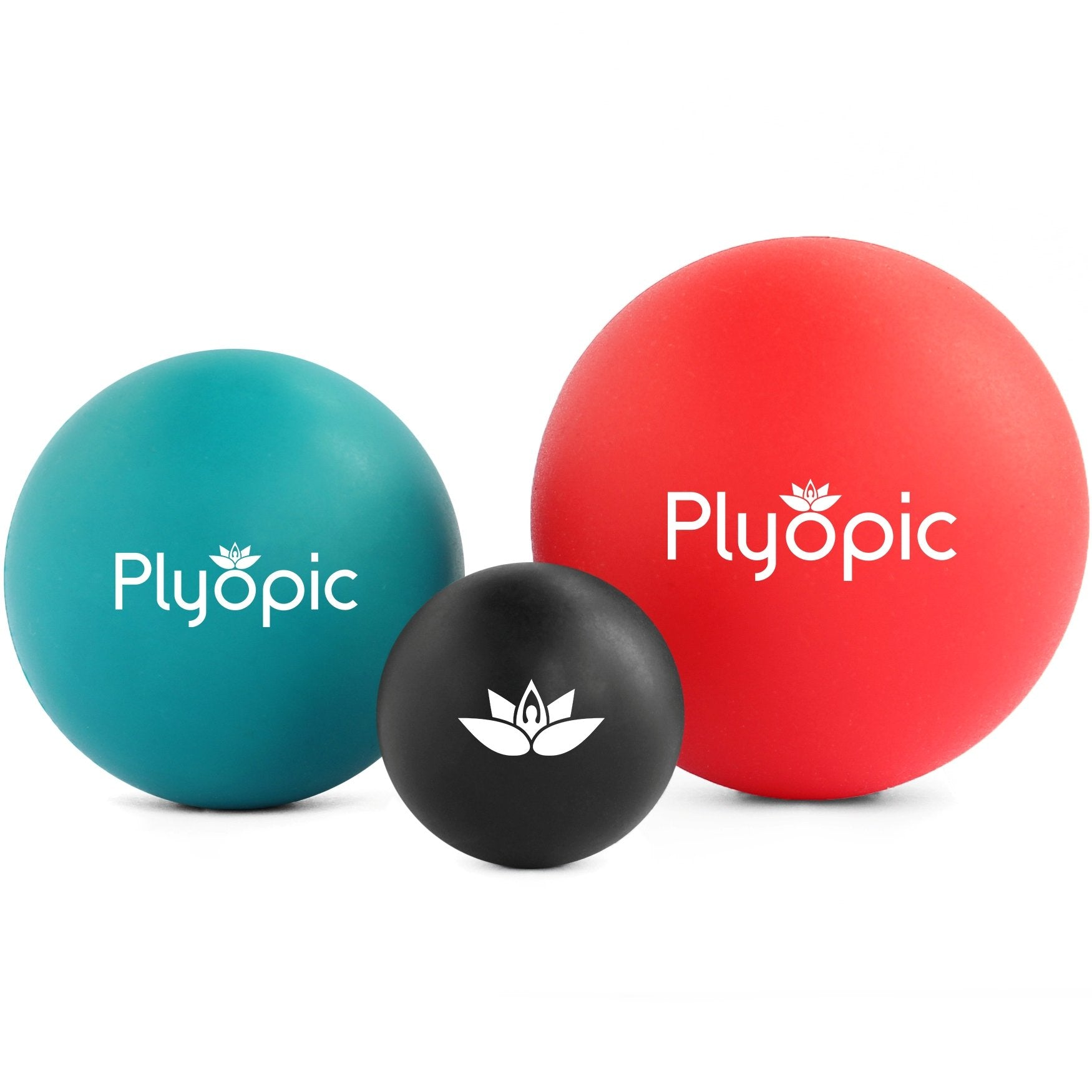 Plyopic-Plyopic Targeted Release Massage Ball Set With Small Medium and Large Smooth Ball