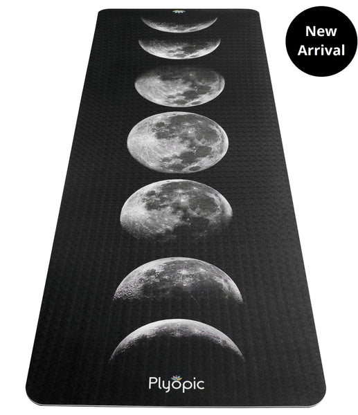 Plyopic-Printed Yoga, Pilates & Exercise Mat - Moon Phases-Yoga Mat