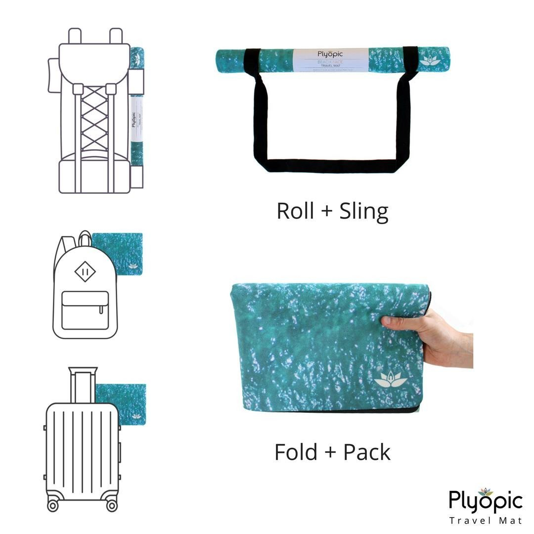 Plyopic-Travel Yoga Mat / Towel Beach Face-Yoga Mat With Sling