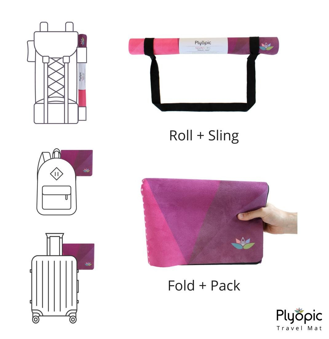 Plyopic-Travel Yoga Mat / Towel Neometric-Yoga Mat With Sling