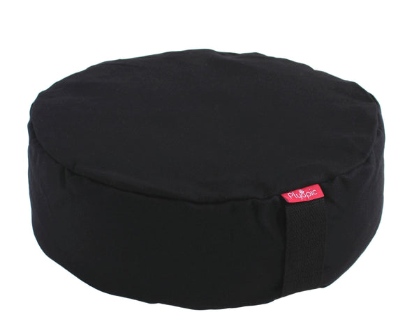Plyopic-Zafu Meditation Cushion (Black)-Meditation Cushion