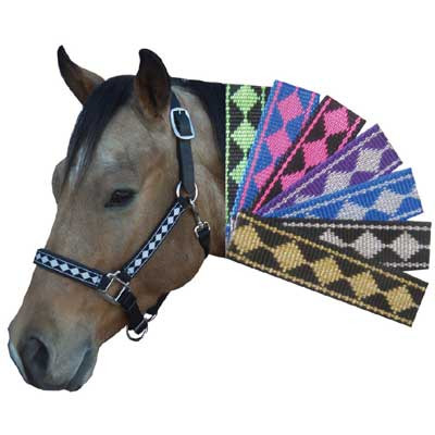 Breakaway Halter - Nylon Diamond Pattern