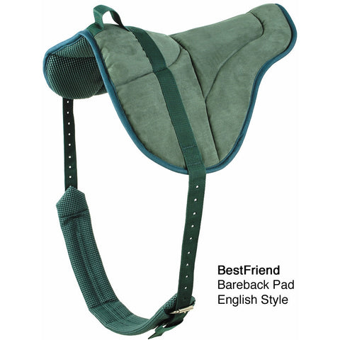 Best Friend English Bareback Pad Green