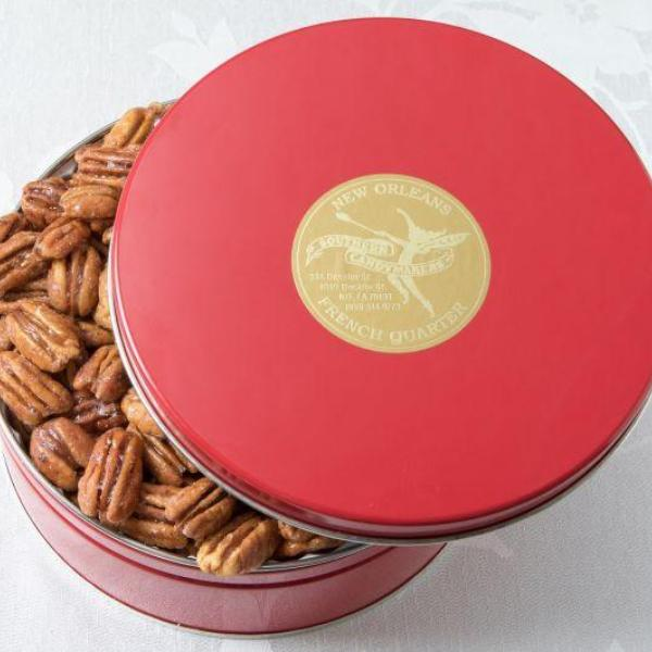 Red Holiday Pecan Tin