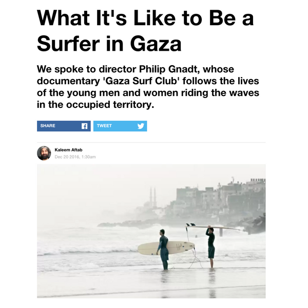 Surfing Gaza by VICE