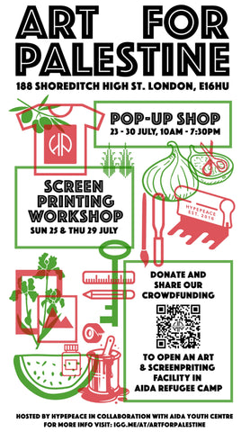 HYPEPEACE POP-UP SCREEN-PRINTING WORKSHOP