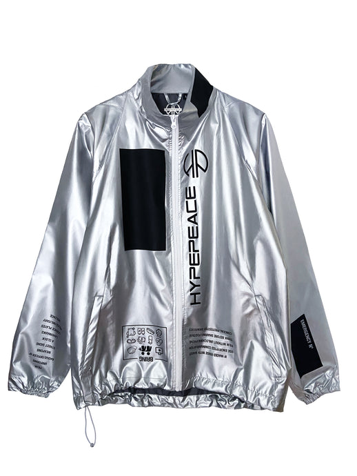 Silver Protest Windbreaker