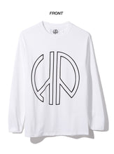 HYPEPEACE HP Logo -Long sleeve tshirt white
