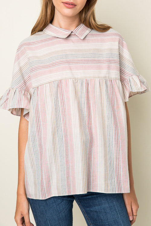 Stripe Baby Doll Shirt - Shop Sugar Sands