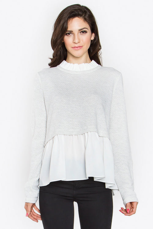 Melisandre Ruffle Sweater Top - Shop Sugar Sands