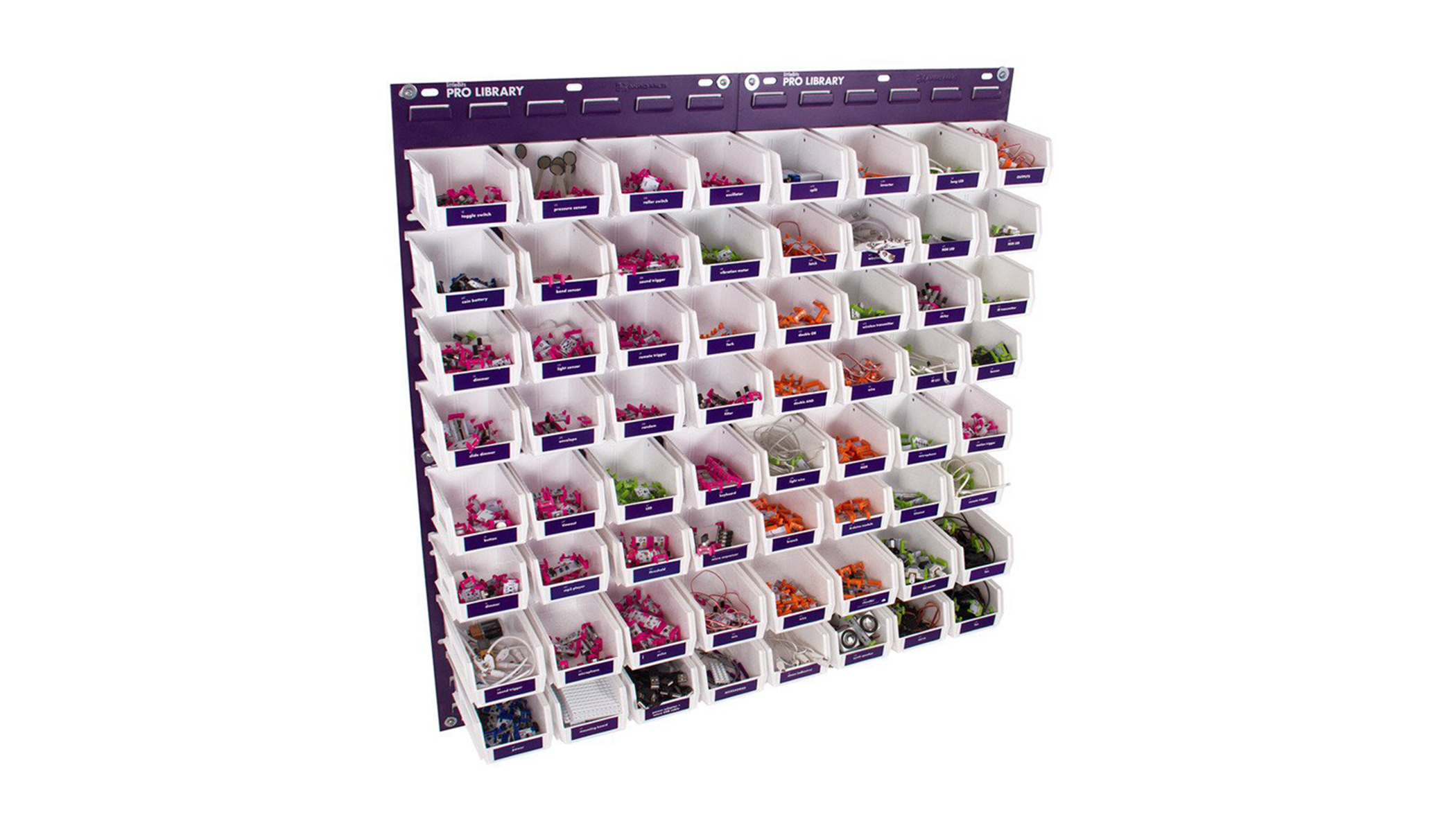 littleBits wall storage